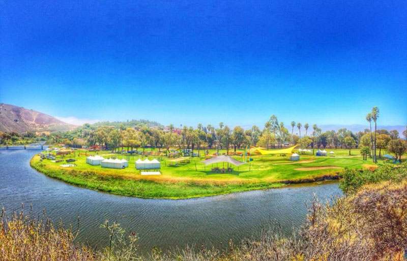 Panormic view of a scene at Avila Beach Golf Resort